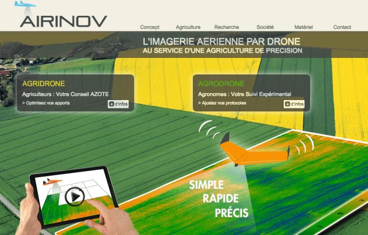 La Startup Airinov, capteurs et drone pour l'Agriculture