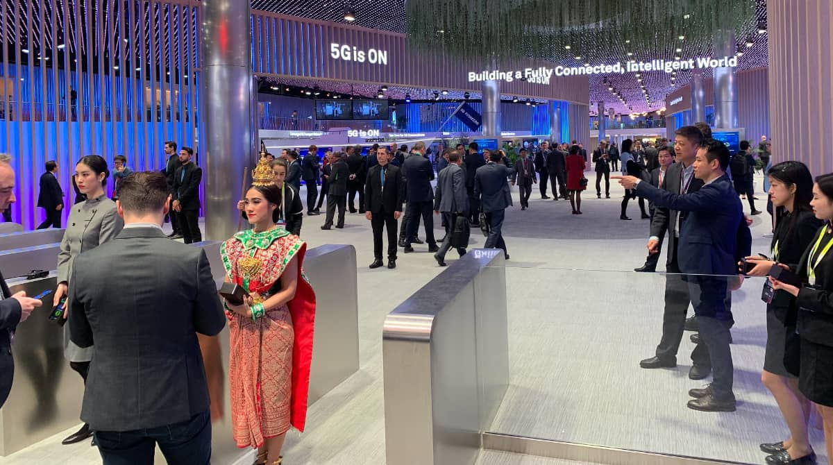 Espace Huawei sur le Mobile World Congress 2019 / Photo servicesmobiles