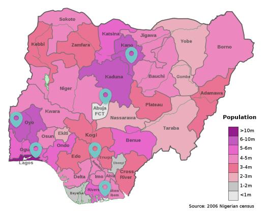 Le Nigéria reste un pays jeune, très peuplé, rural mais à urbanisation rapide.