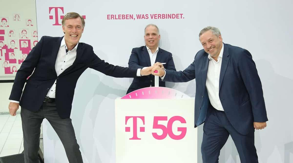 Boost 5G : Michael Hagspihl, Dirk Wössner et Walter Goldenits présentent la plus grande initiative 5G pour l'Allemagne.