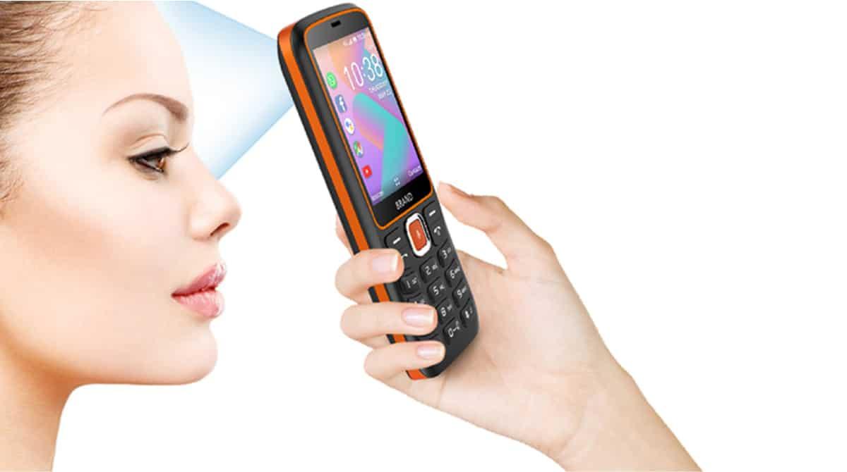 mobile 4G avec pistolet à température frontale