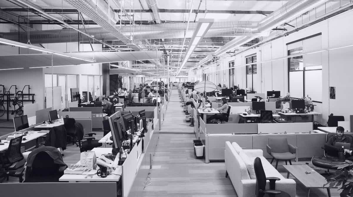 Photo : Espace de travail Google