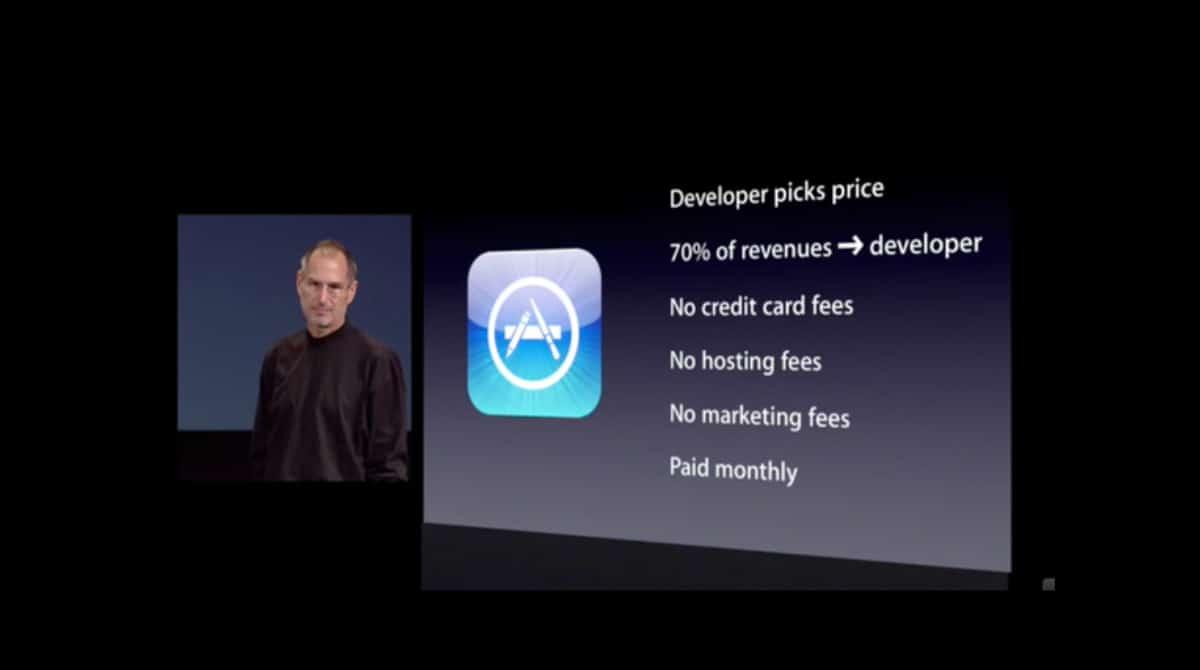 Slide du lancement de l'app store en 2008